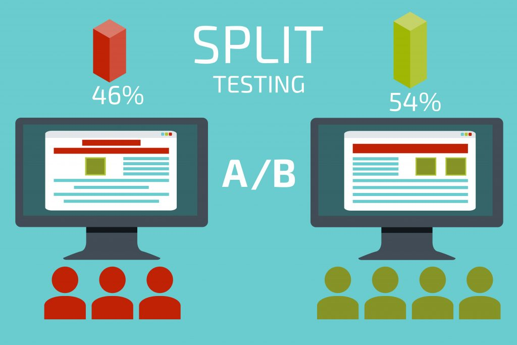 demonstrating what A/B or split testing is