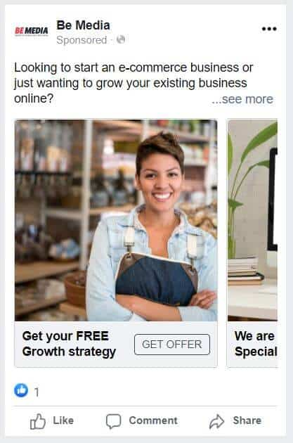 Example business facebook ad